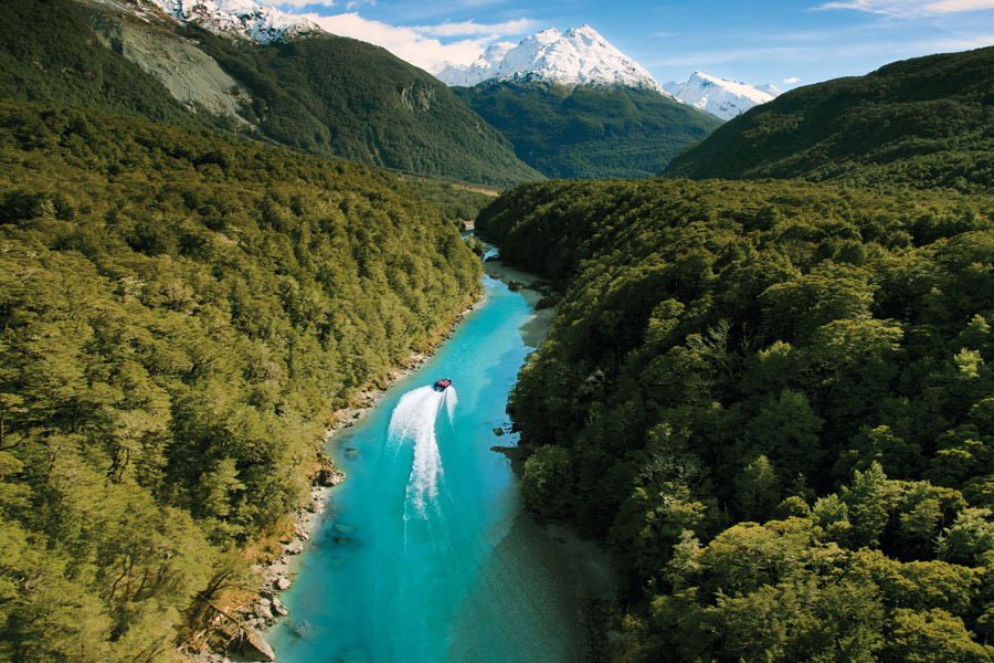 Dart River wilderness jet safari, Queenstown, New Zealand