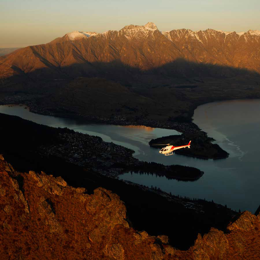 Remarkables mountain range helicopter tour Queenstown, New Zealand