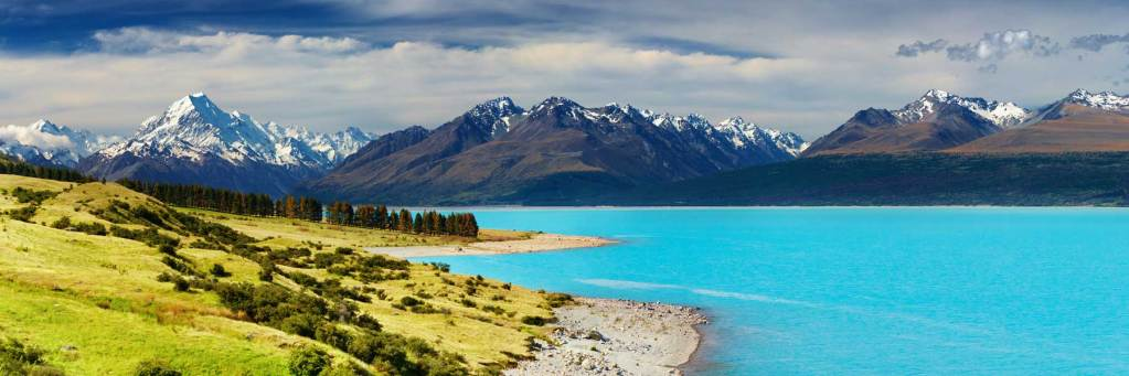 Lake Pukaki, Mackenzie Basin, South Island, New Zealand guided tours