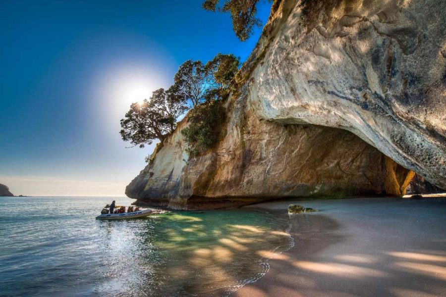 cathedral cove best time to travel to New Zealand