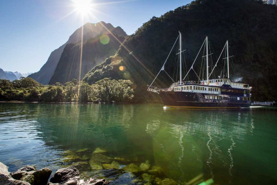 milford sound overnight cruise luxury small group tours new zealand