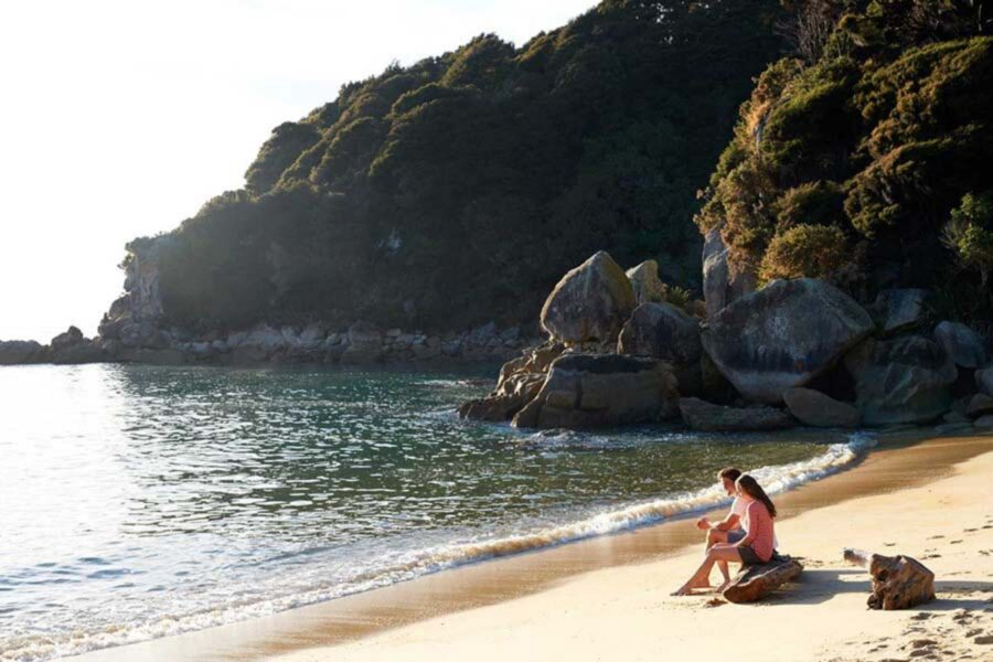 Private beach in Abel Tasman National Park