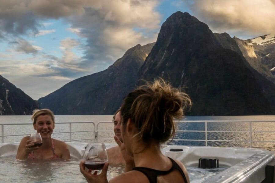 Luxury Milford Sound overnight cruise on the Fiordland Jewel New Zealand