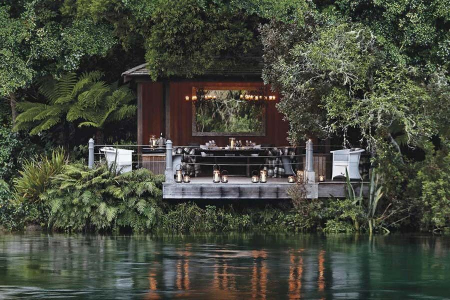 Huka Lodge luxury retreat Taupo New Zealand